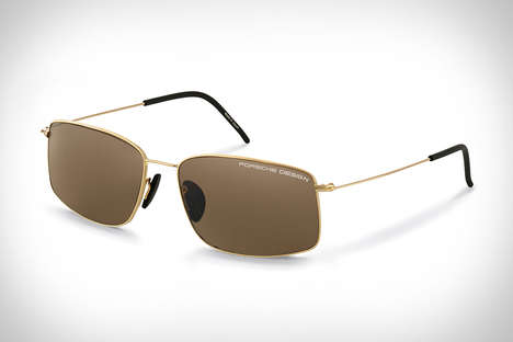 Hypoallergenic Gold Sunglasses - The Porsche Design P'8586 Sunglasses are Handcrafted in Japan