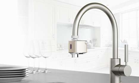 Touchless Faucet Adapter Devices - The Techo 'Autowater' Makes Any Faucet Instantly Automatic