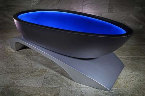Color-Changing Bathtubs - Alvarae Design Studio's 'La Baignoire' Changes to Suit One's Mood