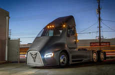 Futuristic Electric Transport Trucks