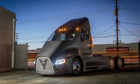 Futuristic Electric Transport Trucks