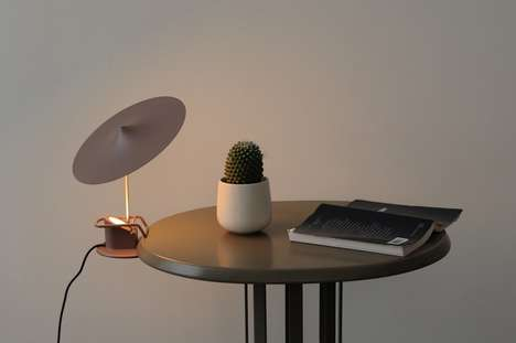 Demure Disc Desk Lamps