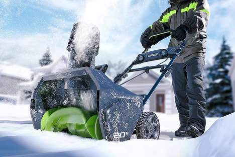 Maintenance-Free Cordless Snow Blowers - The GreenWorks Pro 80V Snow Thrower is Simple to Use