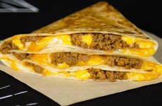 Folded Breakfast Sandwiches - The New Taco Bell Stackers are Priced at Just $1 Each