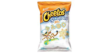 Snowflake-Shaped Cheese Puffs - The Cheetos White Cheddar Snowflakes are a Festive Party Snack