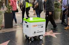 Co-Branded Food Delivery Robots - Top Chef x Postmates Robots Delivered Food in Los Angeles