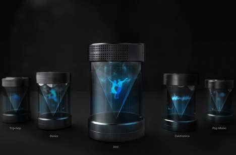 Holographic Projection Speakers - The 'Hologrampy' Creates a Multi-Sensory Experience