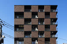 Alternating Brick Facades