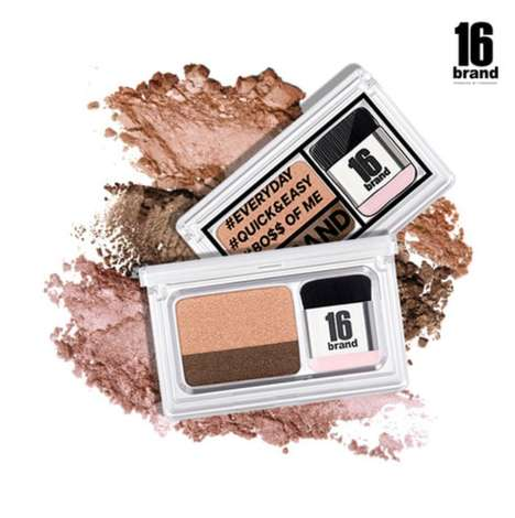 Instant Eyeshadow Kits - 16 Brand's 'Eye Magazine' Swipes the Eyelid with Two Shades of Color