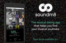 Music Preference Dating Apps - The 'soundm8' Musical Dating App Bases Matches on Your Tune Taste