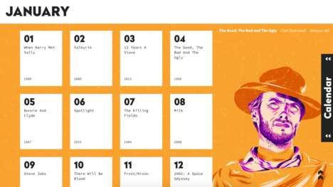 Daily Movie Calendars - The 'Massive Movie Calendar' Suggests a Film to Watch Every Day
