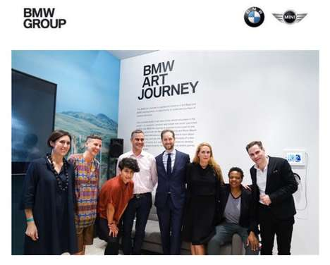 Auto Brand Art Initiatives - The BMW Art Journey is a Partnership with Art Basel