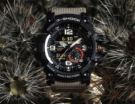Impermeable Weatherproof Timepieces - The Casio G-Shock Mudmaster GG1000 is Ready for Action