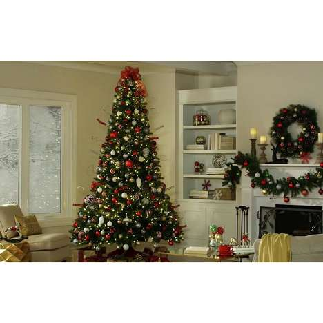 Festive Height-Adjustable Trees - Home Depot's Home Accents Holiday Tree Can be Customized by Users