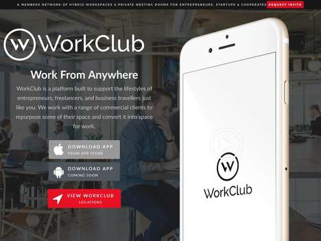 Freelancer Workspace Locators - 'WorkClub' Provides Remote Workers with Access to Ideal Work Spaces