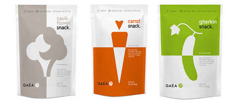 Artificial Ingredient-Free Vegetable Snacks - The Gaea Veggie Snacks are Made without Preservatives