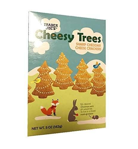 Cheesy Christmas Tree Crackers