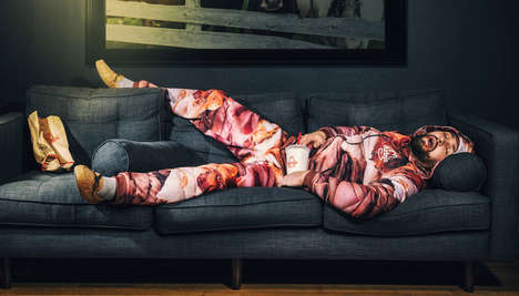 Branded Meat Print Sweatsuits - Arby's Is Giving Away Meat Sweatsuits To Devoted Customers