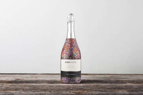 Glitter-Coated Wine Bottles - ONEHOPE's Glittery Wine Bottles Support Charitable Causes