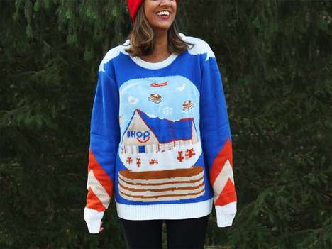 Pancake-Themed Holiday Sweaters