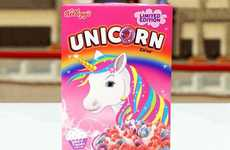 Unicorn-Themed Cereals - Kellogg's is Launching a Limited-Edition Cupcake-Flavored Unicorn Cereal