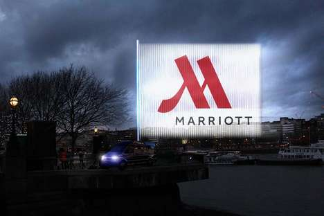 Light Projection Advertisements - Marriott Hotels Launched a Campaign with the Innovative 'Echo'