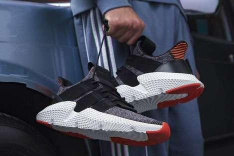 Futuristic Textured Sneakers