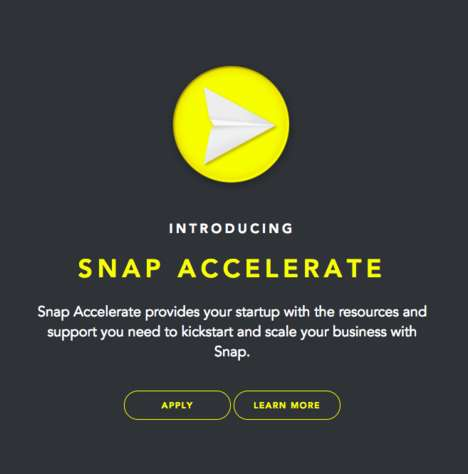 Social Start-Up Accelerators - Snap Accelerate Helps VC-Backed Start-Ups Leverage Snap for Business