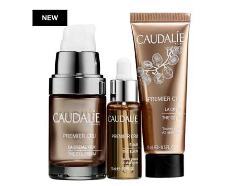 Luxe Travel-Ready Skincare Trios - Caudalie's 'Ultimate Anti-Aging Trio' Works for All Skin Types