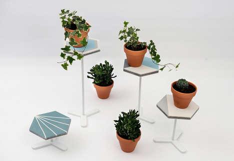 Elegant Hexagonal Coffee Tables