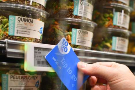 Smart Supermarket Labels - Albert Heijn is Launching NFC 'Tap to Go' Checkout Labels on Shelves