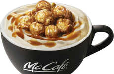 Popcorn-Topped Beverages - Japan's McCafé by Barista Branches are Now Serving Fun Popcorn Drinks