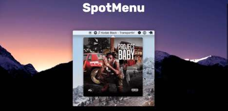 Musical Menu Bars - 'SpotMenu' Lets Mac Users Put Music Players Into Their Menu Bars