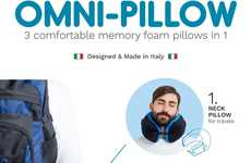 Versatile Travel Pillows - The Omni-Pillow Can Help One Catch a Quick Nap Virtually Anywhere