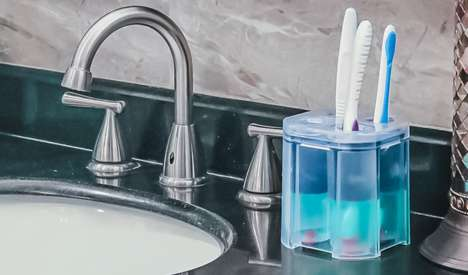 Bacteria-Removing Toothbrush Stands