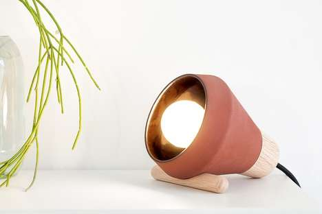 Ceramic Table Lamp - This Ceramic Lamp Was Designed to Look Like a Hanging Light