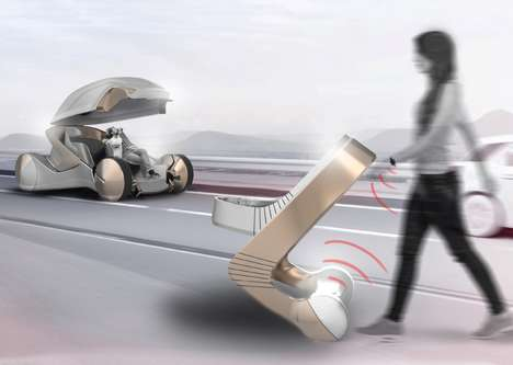 Conceptual Stroller-Incorporated Vehicles - The 'CARe' Car is Designed for the Three-Member Family
