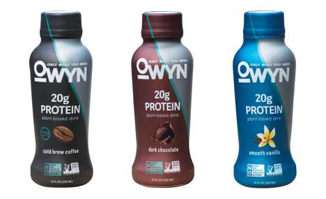 Fiber-Infused Plant Protein Shakes - The OWYN Plant-Based Protein Shakes are Non-GMO