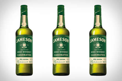 Beer Cask-Aged Whiskeys - The Jameson Caskmates IPA Irish Whiskey Has a Hoppy and Citrus Finish