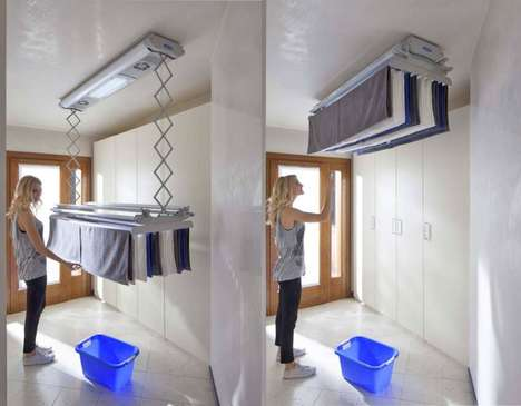 Space-Saving Eco Clothes Dryers - The FoxyDry 'AIR' Dries Clothing Up and Out of the Way