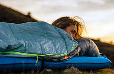 Heat-Reflecting Sleeping Bags - The Therm-a-Rest 'Space Cowboy' Sleeping Bag is Water-Resistant