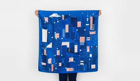 Glow-in-the-Dark Skyline Scarves