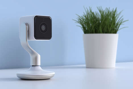 Detachable Indoor Cameras - The New Hive View Indoor Camera by Yves Behar is Sleek and Magnetic