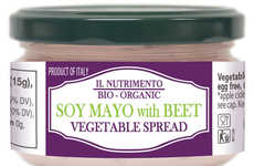 Beetroot Soy Spreads - Il Nutrimento's Beet Soy Mayo is a Vegan Alternative to Egg-Based Products