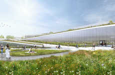 Eco-Friendly Terraced Offices - The 'Googleplex' is an Environmentally Friendly Office Complex
