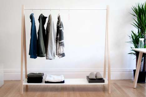 The Out Of Necessity 'Nomadic' Coat Rack is Simple to Fold and Move