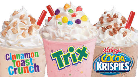 Nostalgic Breakfast Cereal Shakes - The Wienerschnitzel Cereal Shakes Come in Three Flavor Options