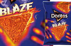 Spice-Intensifying Snack Chips - The Doritos Blaze Chips Get Spicier as You Snack on Them