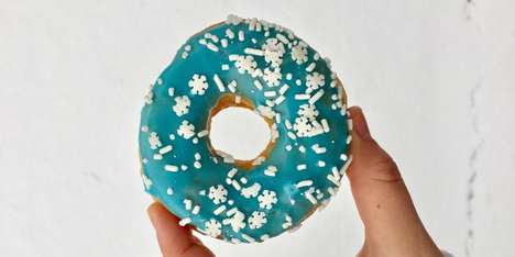 Snowflake-Covered Donuts