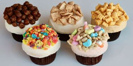 Crunchy Cereal-Topped Cupcakes - Sprinkles Cupcakes is Serving Breakfast Cupcakes Topped with Cereal